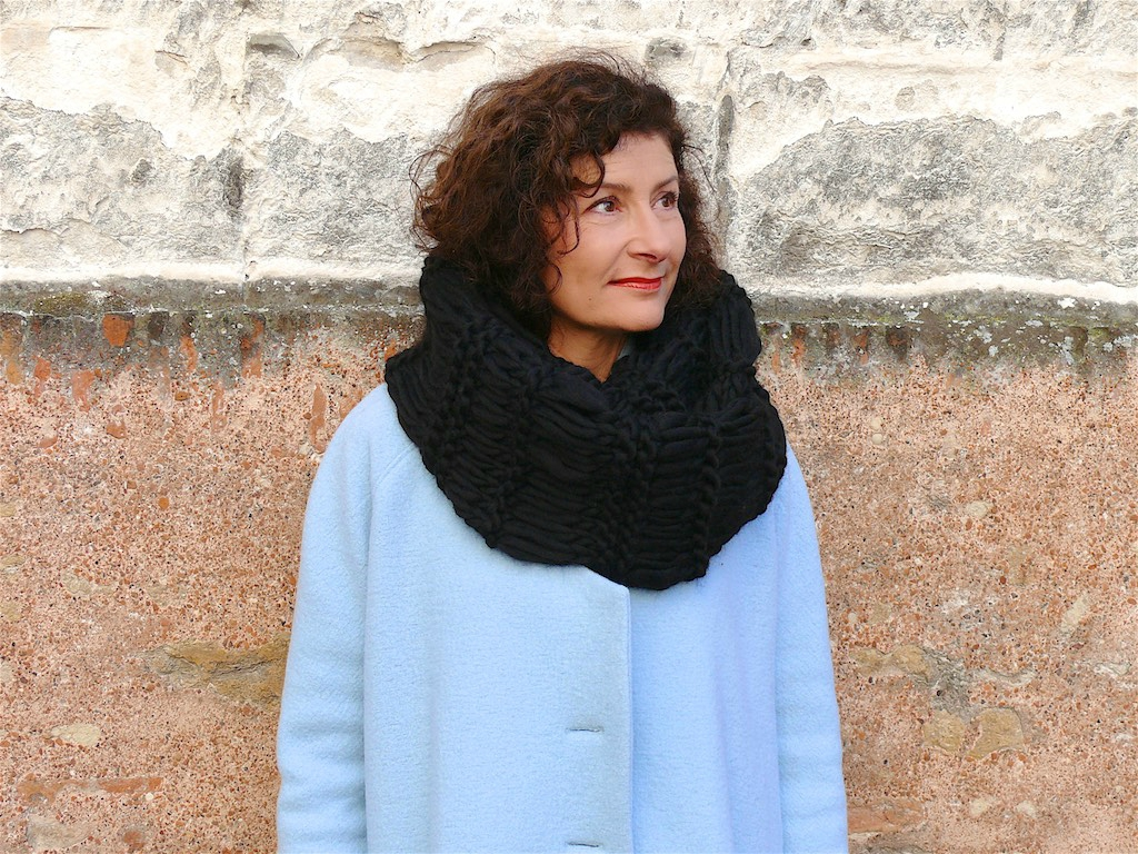 Tricoter snood point riviere