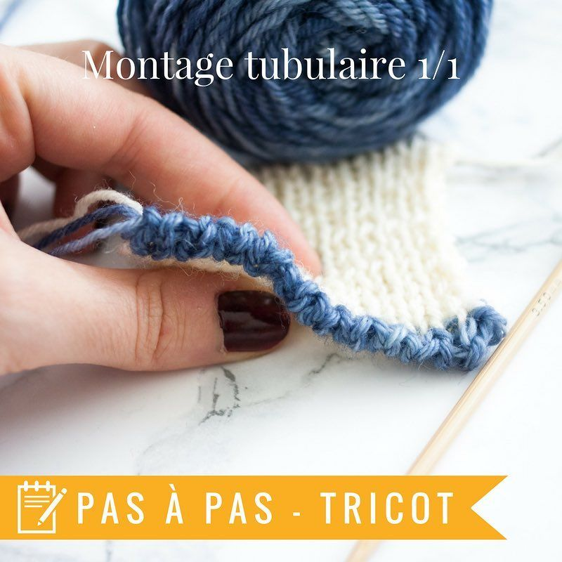 Tricot montage mailles tubulaires
