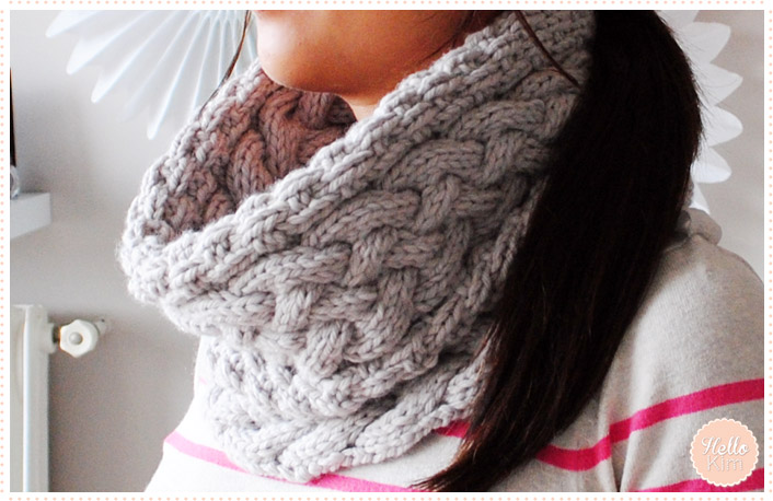 Tricot modele de snood