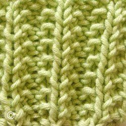 Tricot la fausse maille anglaise