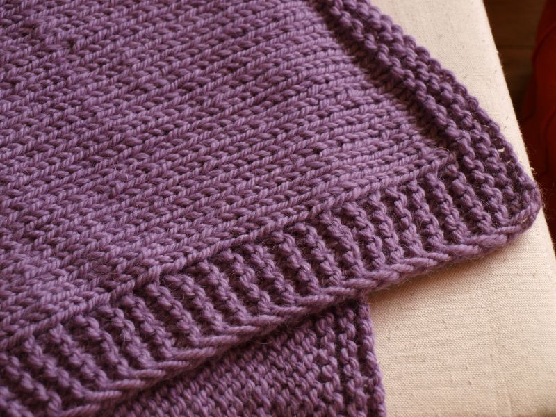 Tricot couverture bebe jersey