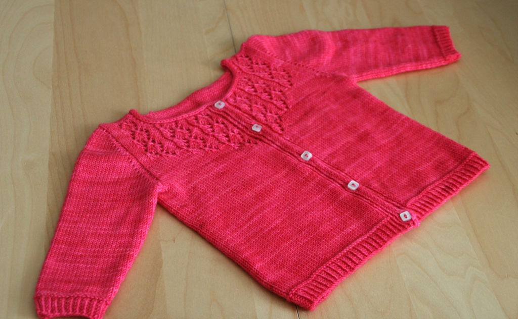 Tricot cardigan fille