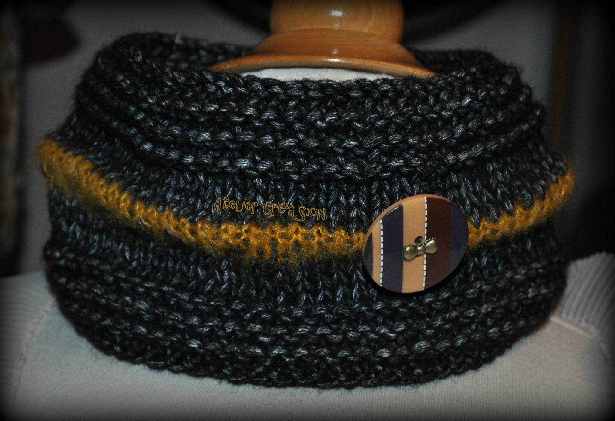 Tricot snood taille
