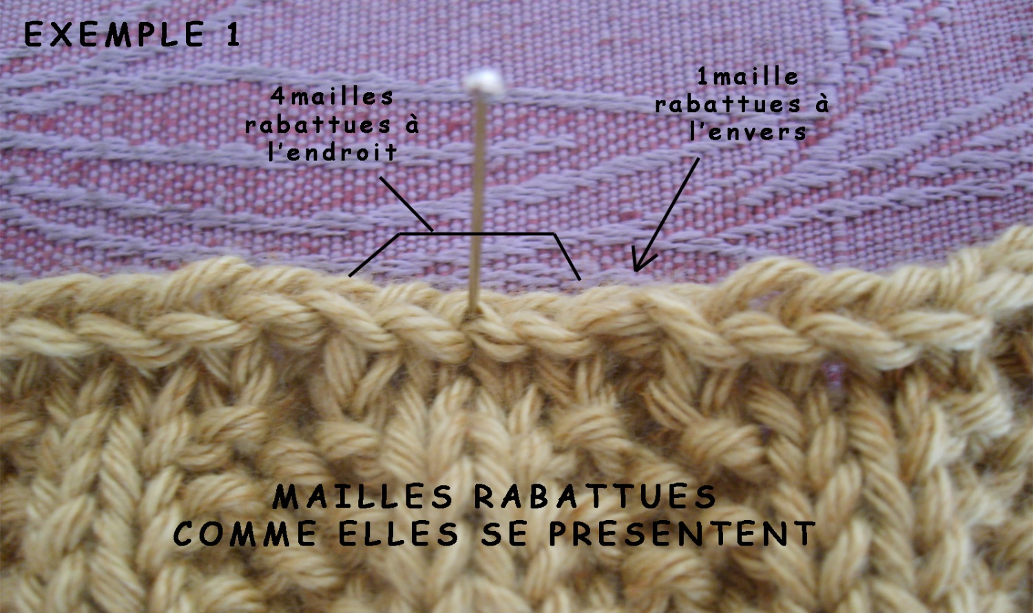 Tricot maille tombee