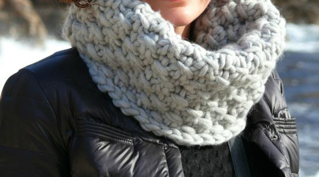 Tuto snood tricot grosse laine