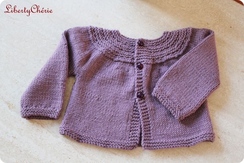 Tricot bebe fille 2 ans