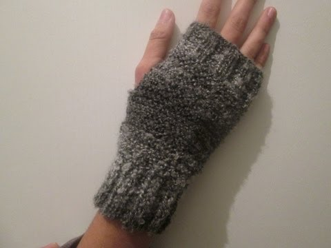 Tricot mitaine youtube