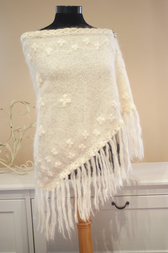 Tuto tricot chale mariage
