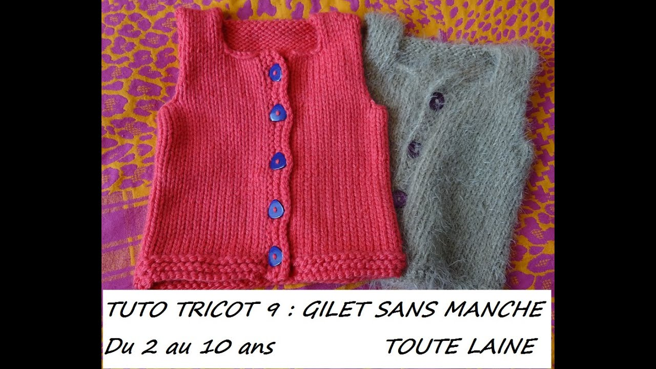 Tuto gilet tricot fille 2 ans