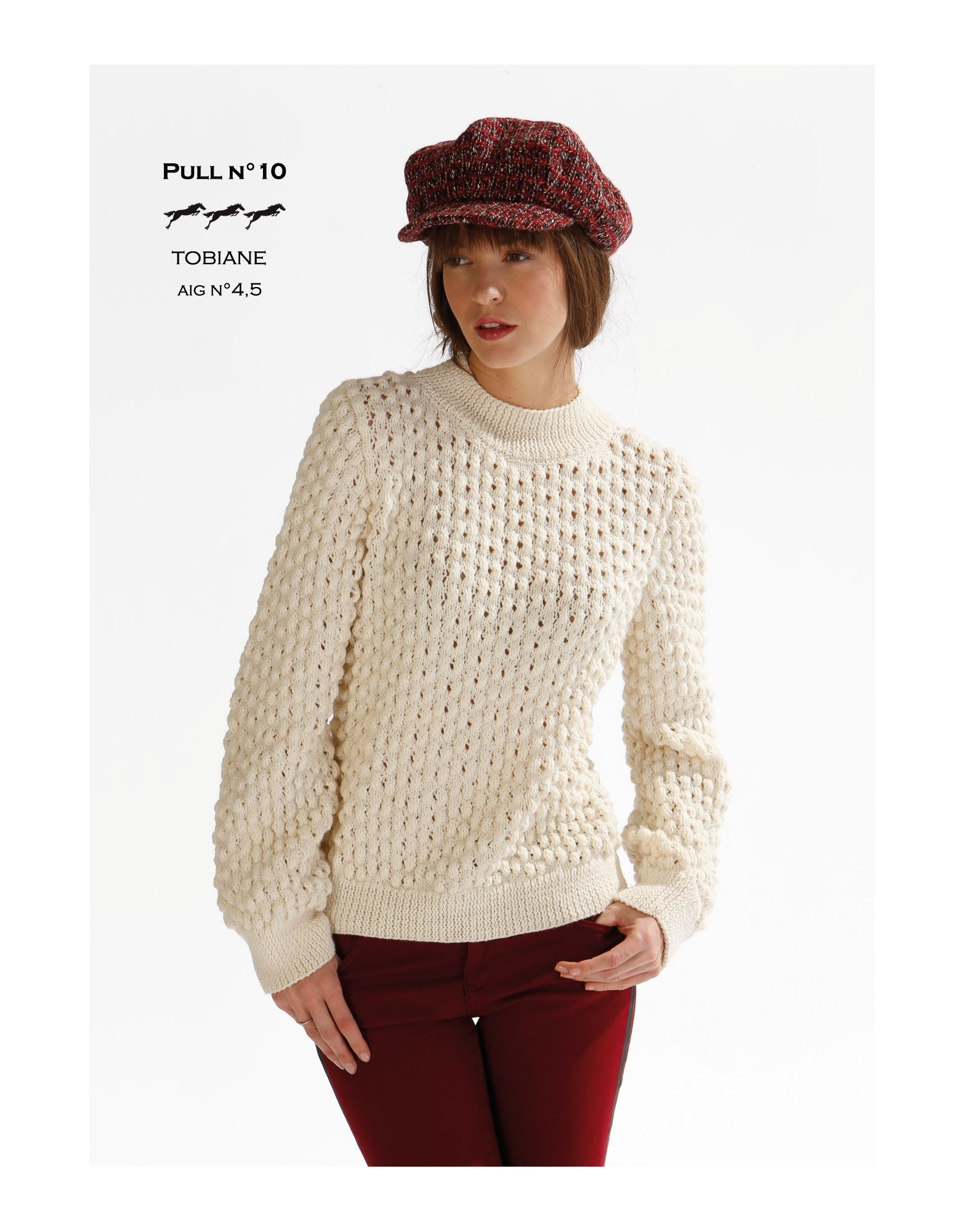 Modele pull long tricot