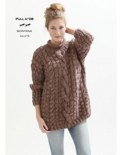 Tricoter pull femme grosse maille