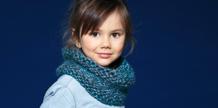 Tricot snood 3 ans