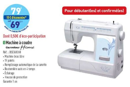 Machine a coudre home carrefour notice