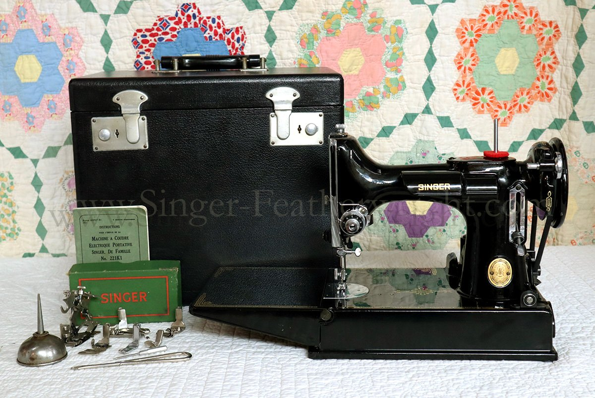 Machine à coudre singer featherweight